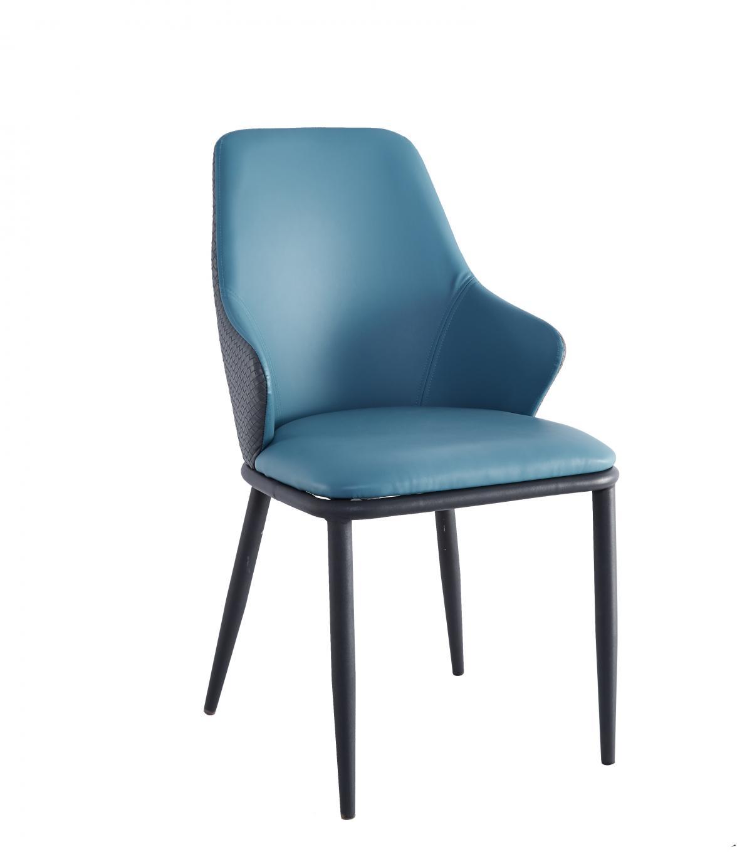 北欧现代简约餐桌椅子家用餐椅带扶手书桌洽谈椅轻奢单人靠背凳子