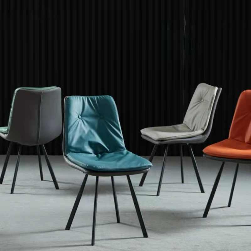北欧餐椅靠背餐椅家用餐椅现代椅子简约椅子书桌凳子轻奢铁艺椅网红餐厅椅酒店餐桌椅子 休闲餐椅