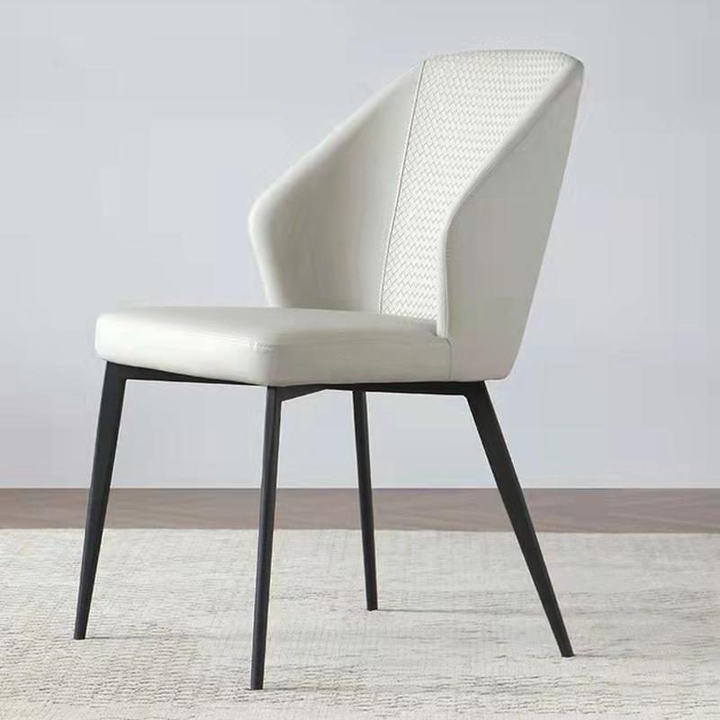 轻奢家用餐椅意式极简设计师ins简约餐厅靠背软包餐桌椅