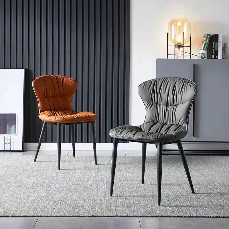餐椅家用北欧现代简约餐厅餐椅轻奢网红椅子靠背铁艺酒店咖啡厅凳