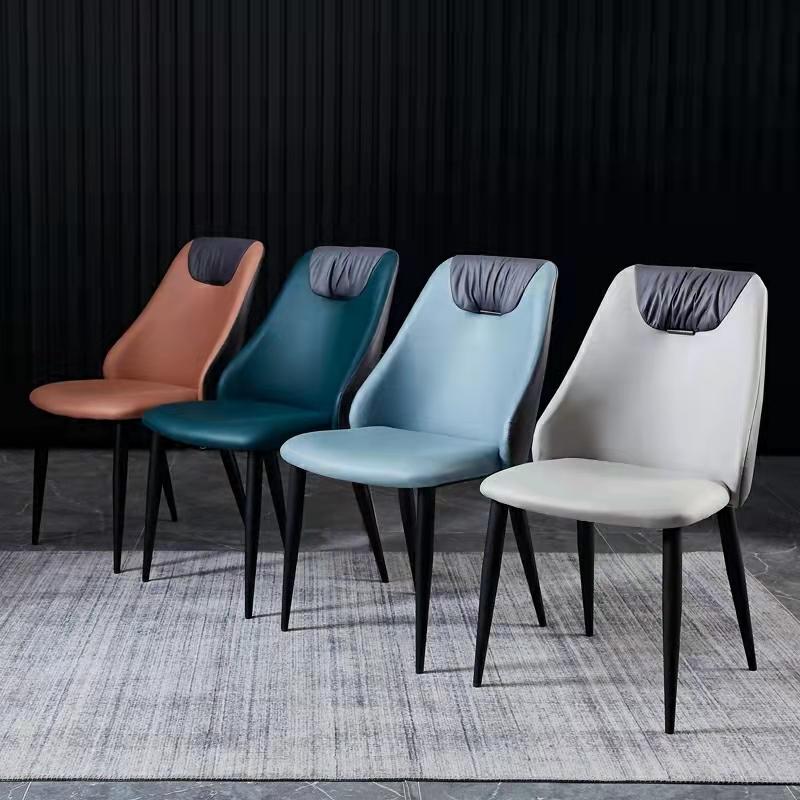意式极简餐椅轻奢现代简约家用靠背椅子北欧设计师餐桌椅中式椅子