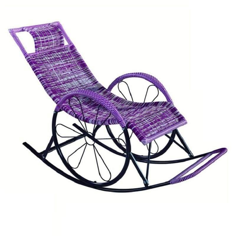 躺椅午休午睡椅阳台家用休闲椅子沙滩便携靠椅懒人摇椅靠背椅折叠