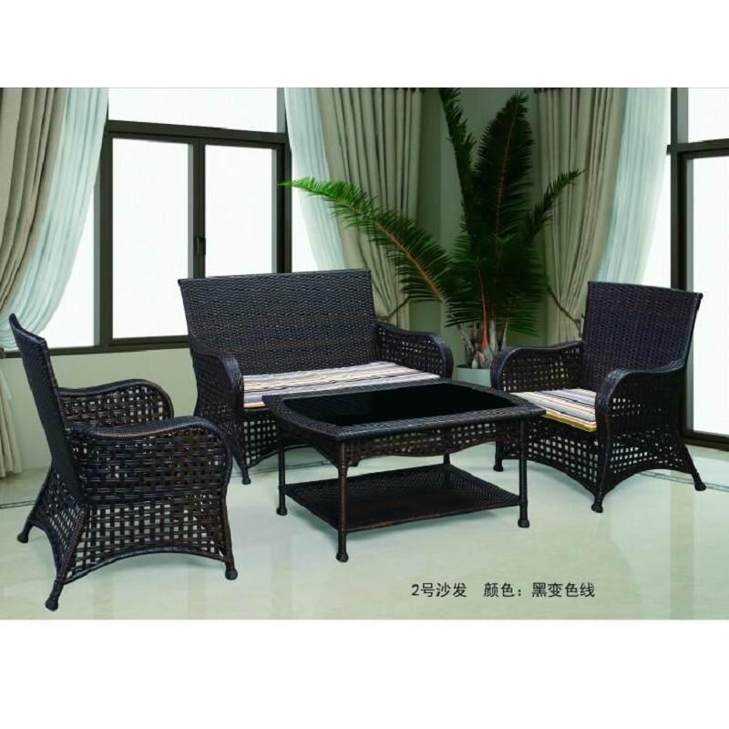 户外庭院藤椅桌椅三件套阳台长方形露台茶几藤条单人休闲靠背椅子