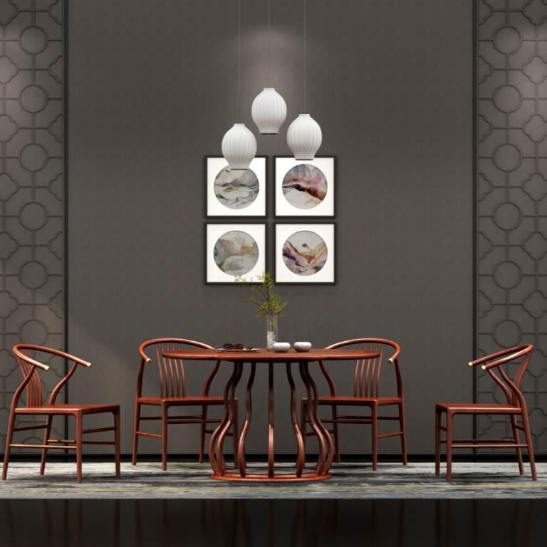 餐厅/红木餐桌/红木餐椅/实木餐桌/实木餐椅/中式餐厅/新中式餐桌