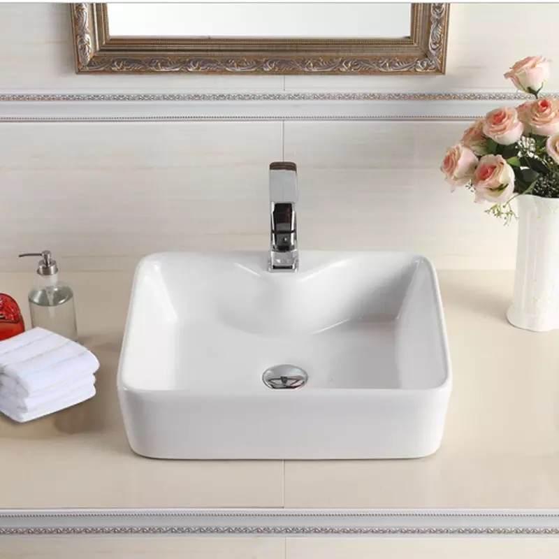 洗手盆洗脸盆卫生间陶瓷台盆台上盆方形椭圆形家用艺术盆洗手池