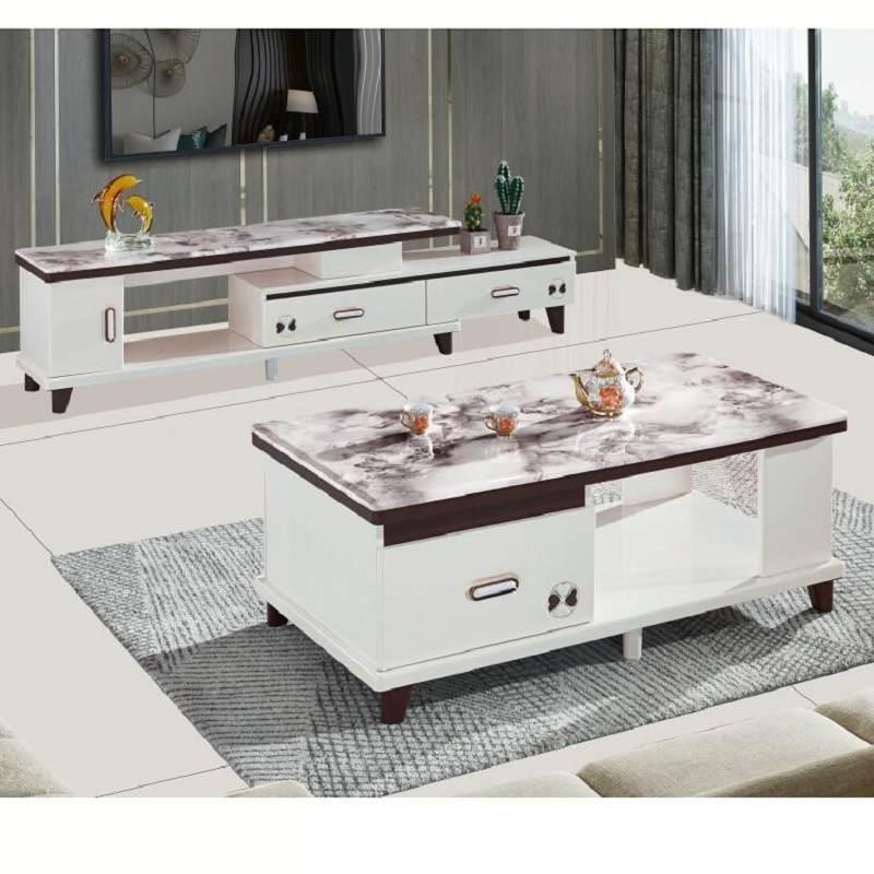 天然大理石茶几电视柜伸缩组合实木小户型钢化玻璃现代烤漆新品