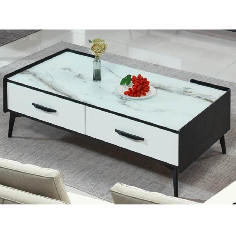 现代简约风电视柜茶几客厅 餐桌椅组合 北欧小户型整装大理石玻璃茶几