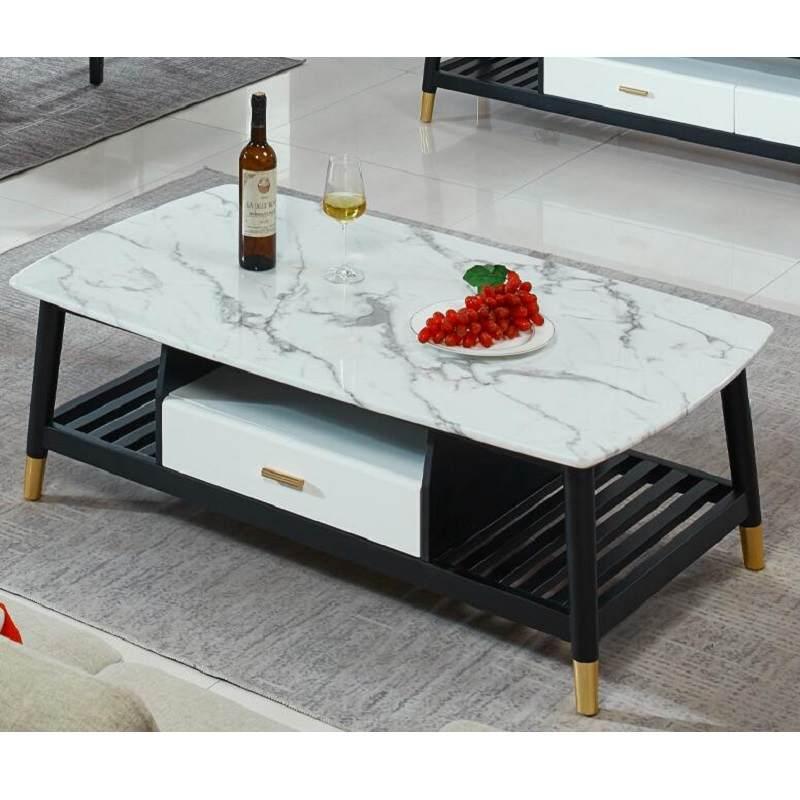 实木大理石茶几电视柜组合餐桌椅组合创意轻奢大小户型简约现代客厅地柜