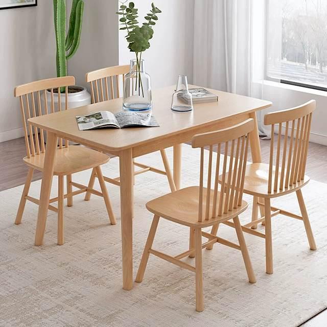 全实木餐桌椅北欧简约小户型桌椅餐厅饭店环保家具