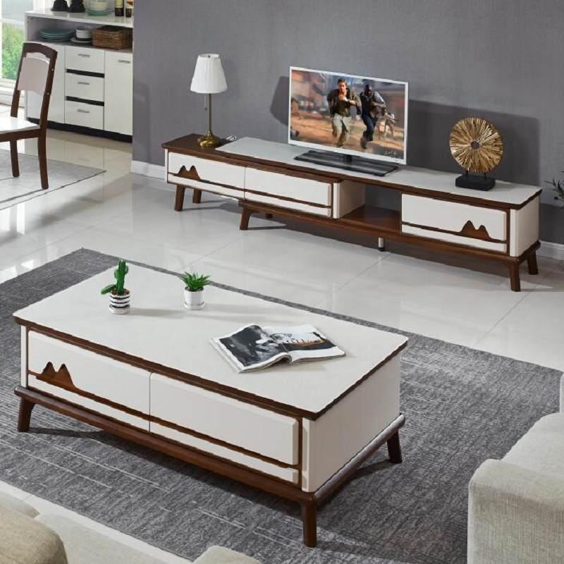 轻奢电视柜茶几组合套装现代简约小户型客厅地柜北欧后现代电视柜