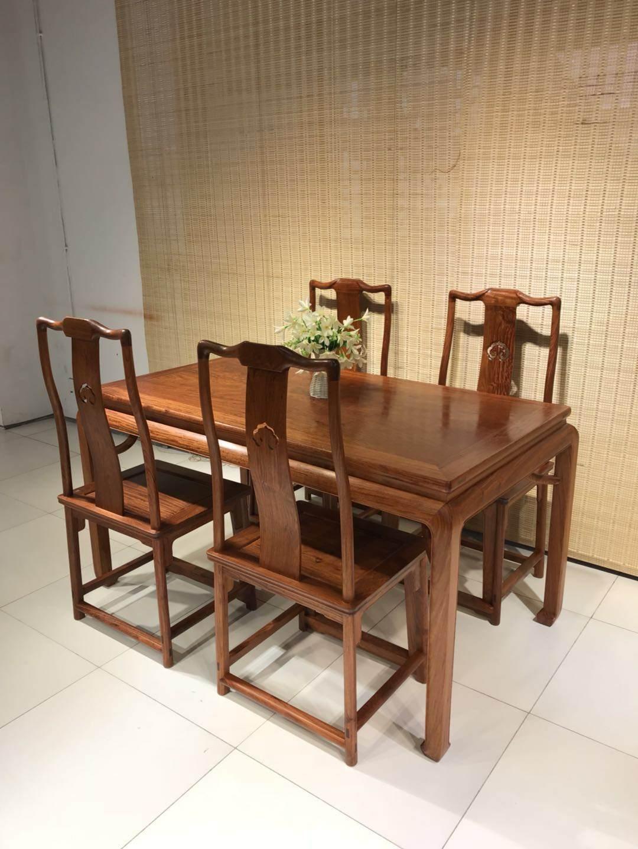 红木餐桌大果紫檀,组合长方形餐桌,中式餐台餐厅实木家具