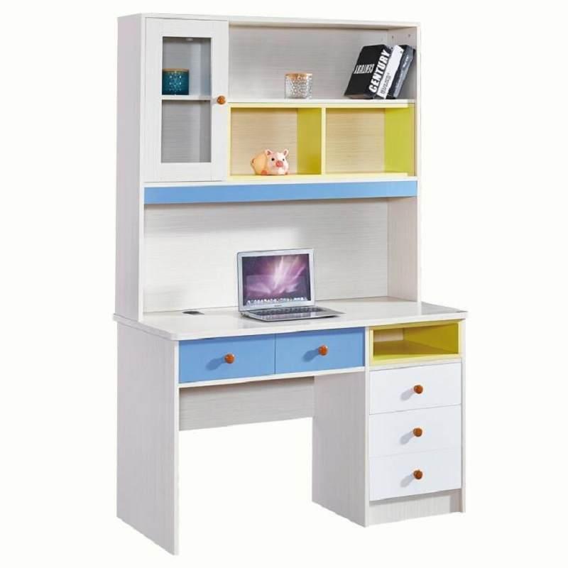 书桌书架一体桌儿童书桌书柜组合家用学生写字桌简约电脑桌