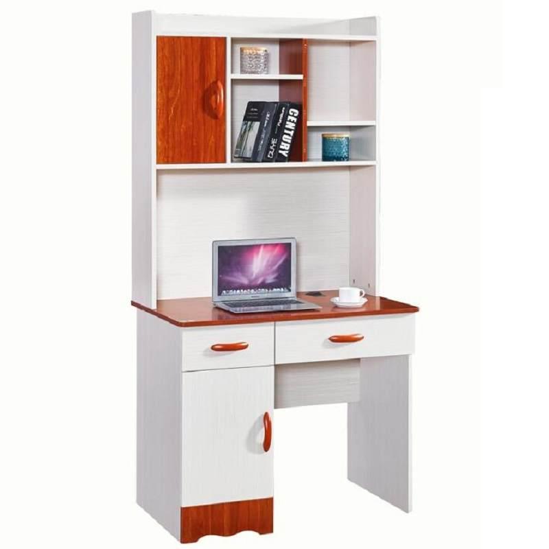 简约白色电脑桌家用台式电脑桌办公桌学习桌一体桌子 电脑桌+架