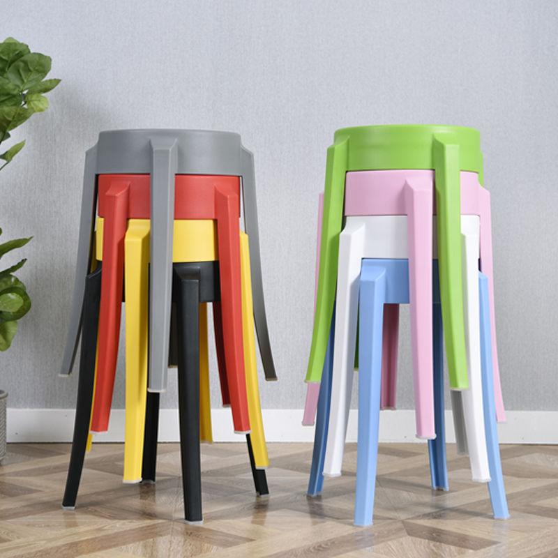塑料凳子加厚成人餐桌凳时尚创意高凳餐凳椅子家用凳彩色圆凳板凳