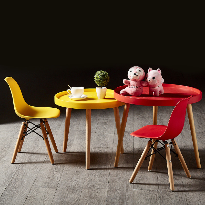 伊姆斯茶几北欧客厅家用创意pp边角几组合ins网红儿童小餐桌
