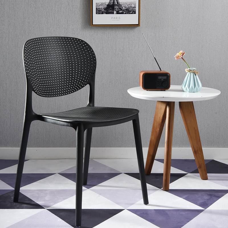 加厚塑料椅子成人靠背家用餐桌椅宜家休闲椅子简约现代办公电脑椅