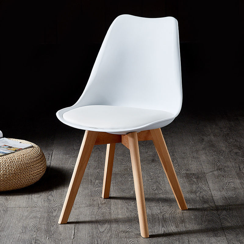 北欧简约现代伊姆斯椅升级版郁金香椅子加宽加大座面