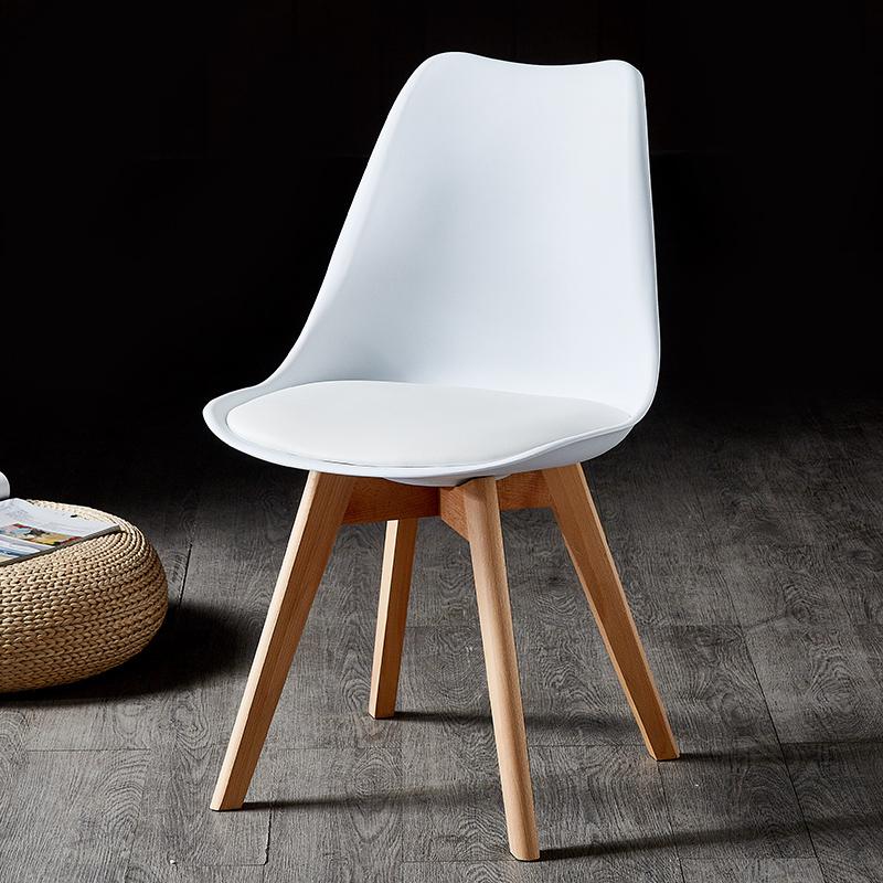 北欧简约现代伊姆斯椅升级版郁金香奶茶店咖啡店椅子加宽加大座面