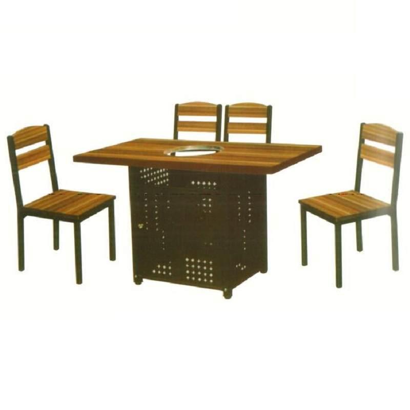 自助快餐西餐咖啡火锅甜品麻辣烫桌椅组合饭店复古牛角椅卡座