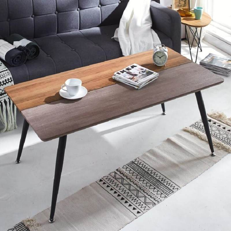 北欧现代简约黑胡桃木长方形餐桌全实木客厅西餐桌小户型咖啡桌