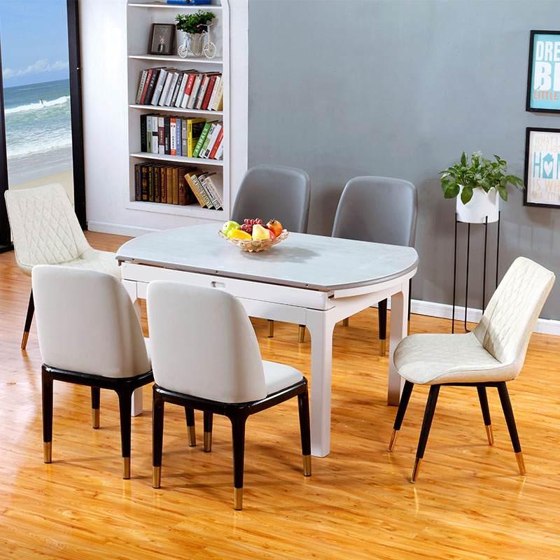北欧轻奢餐桌椅现代简约ins网红桌椅家用餐厅创意靠背椅
