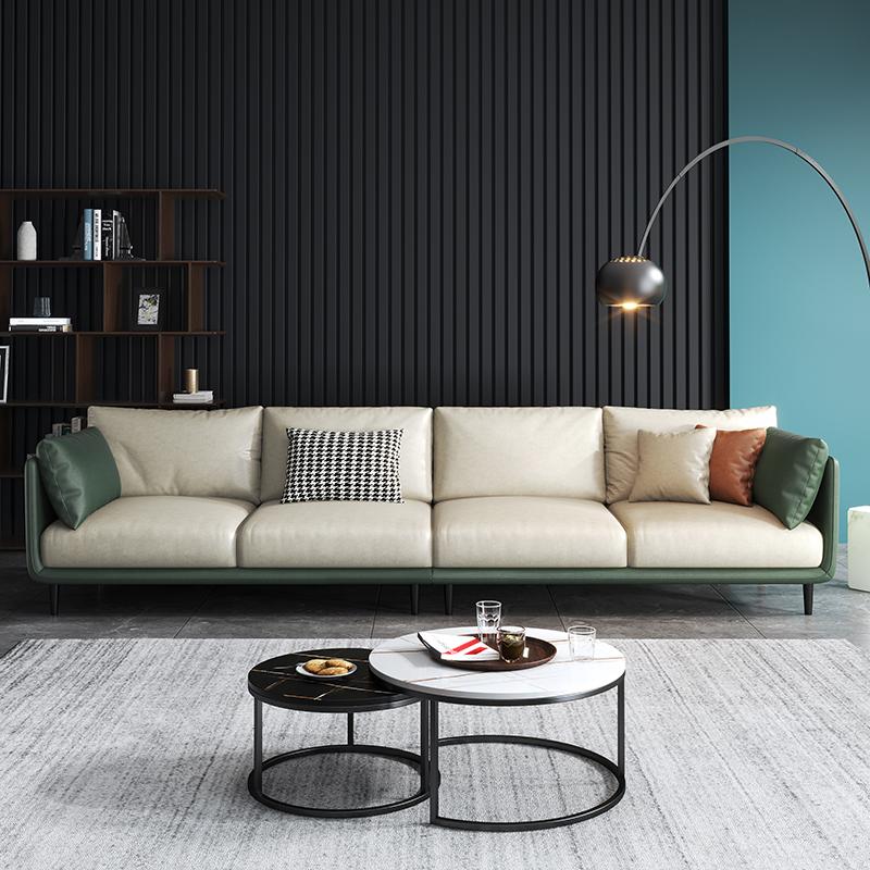意式免洗科技布沙发简约现代客厅小户型北欧轻奢组合整套乳胶家具