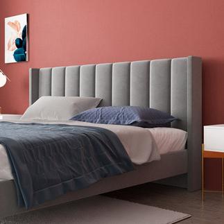 现代简约双人床主卧轻奢绒布床美式布艺软包1.8米ins网红床免拆洗