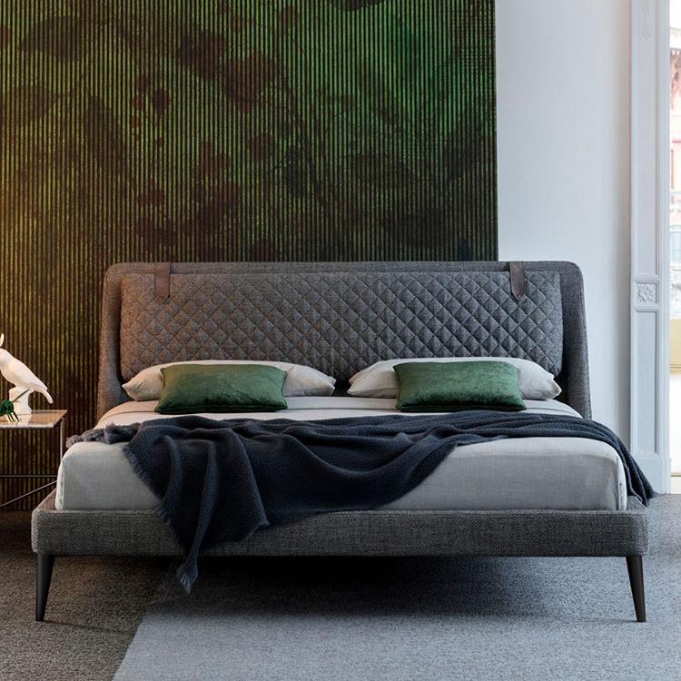 北欧布艺床小户型1.8米时尚简约主卧气动储物ins床可拆洗软包婚床