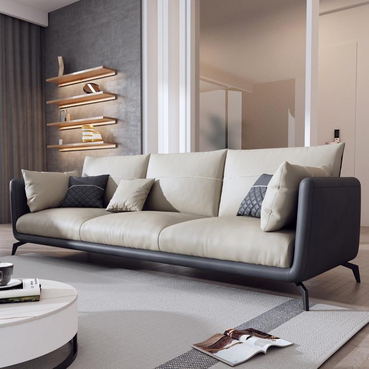 北欧科技布艺沙发客厅现代小户型三人四人位直排乳胶意式免洗沙发