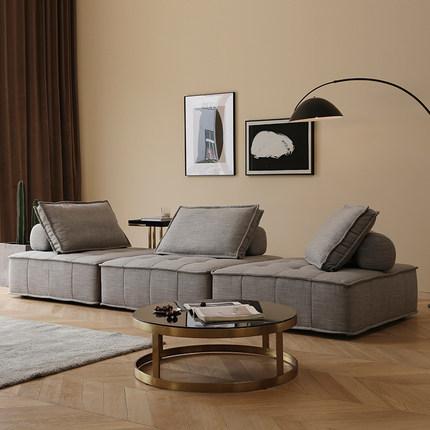 布艺沙发简约现代北欧风小户型客厅自由组合轻奢懒人极简单人沙发