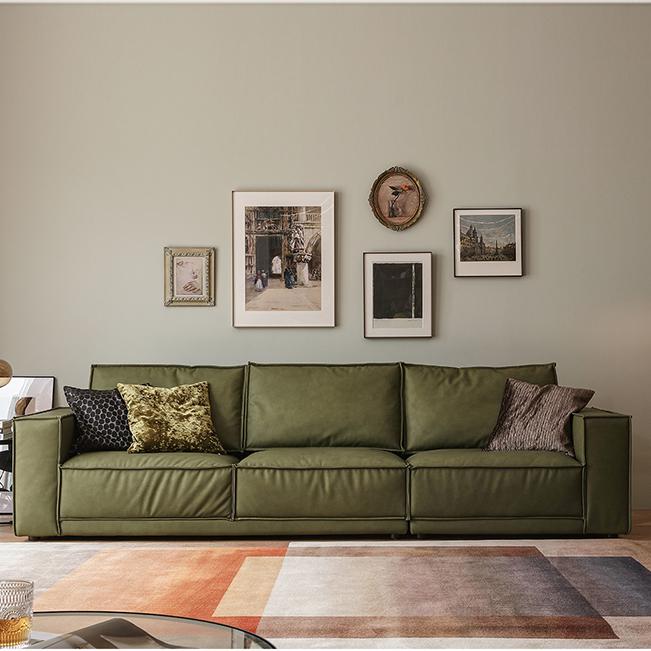 北欧布艺沙发客厅现代轻奢简约小户型意式极简科技布羽绒贵妃沙发