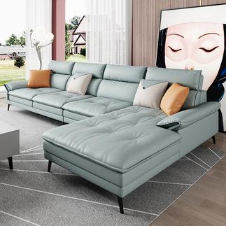 意式极简科技布羽绒布艺沙发客厅小户型现代轻奢北欧贵妃组合家具