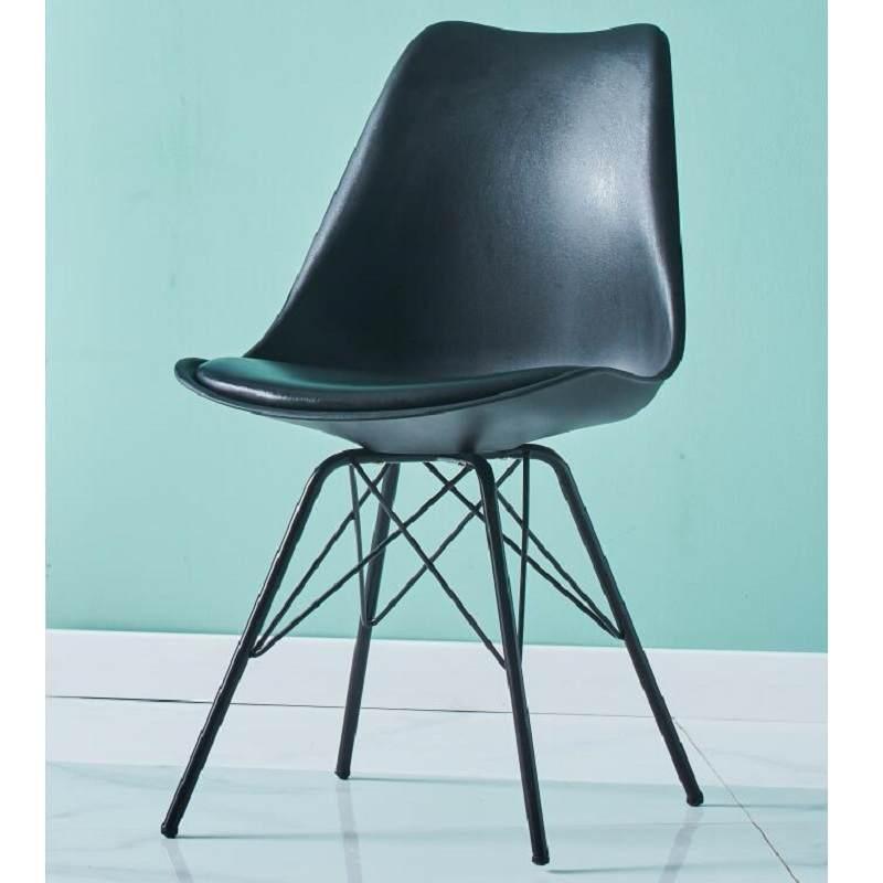 现代北欧创意铁艺伊姆斯网红甜品店休闲办公洽谈接待餐饮电脑椅子