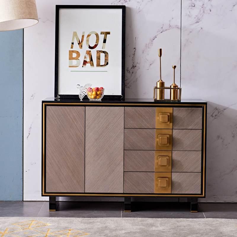 轻奢餐边柜 客厅厨边柜茶水柜现代简约酒柜子客厅靠墙家用置物柜