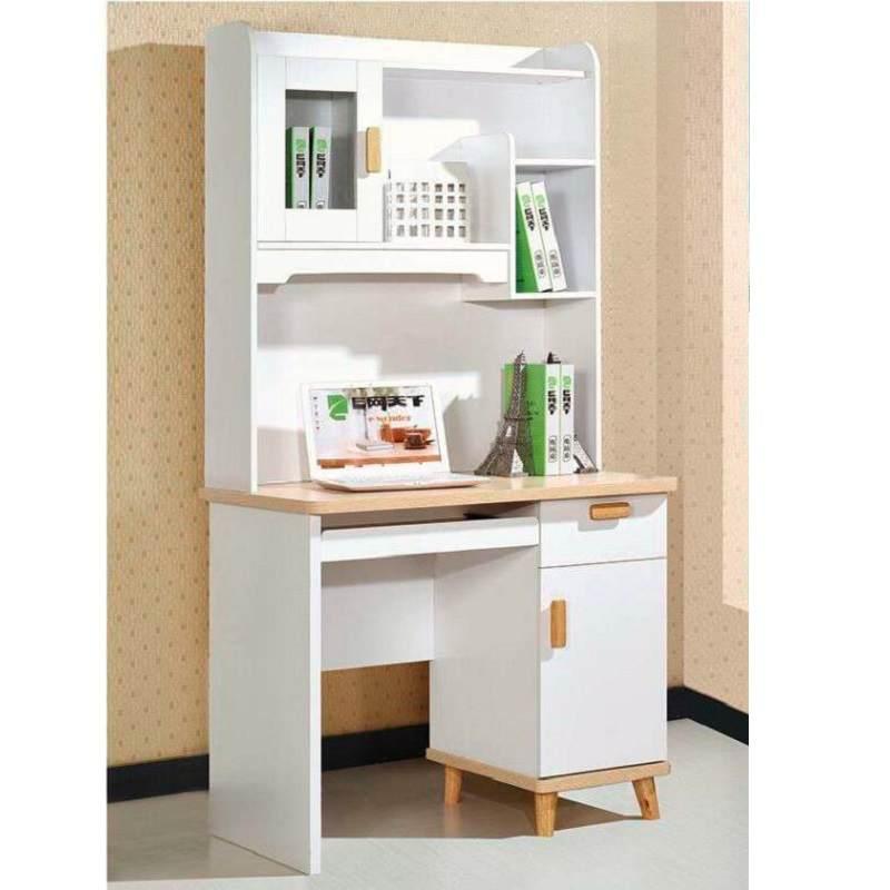 电脑桌台式家用学生书桌写字桌4儿童学习桌书桌书架组合简易办公