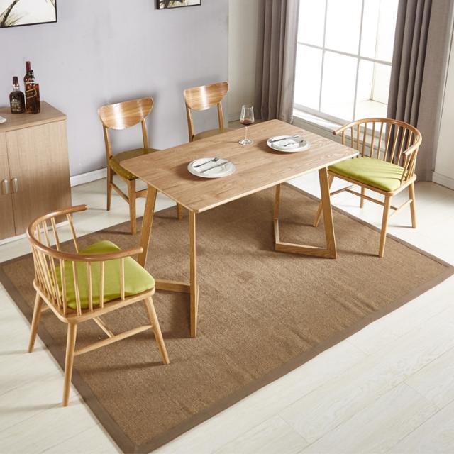 北欧餐桌椅组合现代简约4人6人家用连锁酒店餐厅长方形简易桌