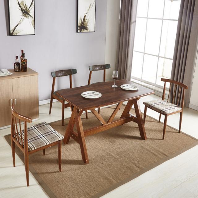 北欧铁艺PVC防水餐桌椅组合现代简约小户型家用餐厅连锁酒店简易桌椅