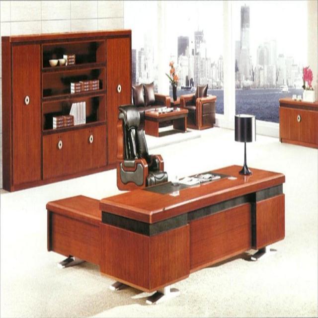 老板桌总裁桌简约现代大班台大气总经理桌椅组合办工桌单人办公桌