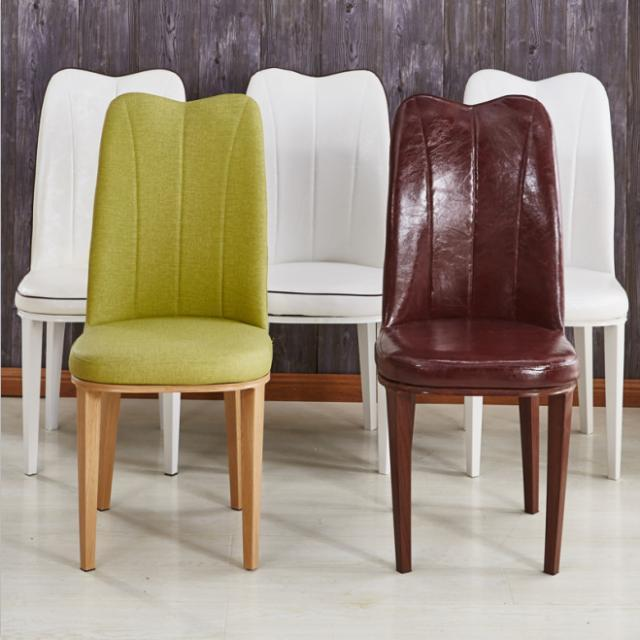 餐椅成人椅子快餐椅酒店美甲椅皮革软面高背凳子简约现代餐桌椅子