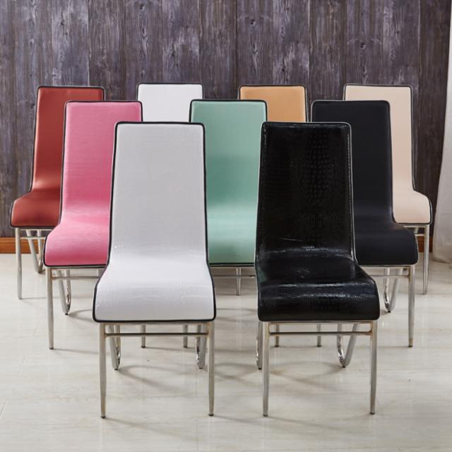 餐椅子整装新款靠背椅餐桌椅酒店椅皮革餐厅椅简约现代家用椅包邮