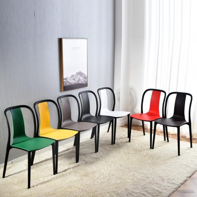 顺丰包邮塑料椅子靠背可叠放成人创意休闲百搭北欧办公洽谈餐椅