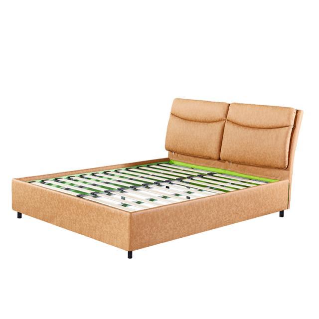 简易环保软床布艺床皮床家用落地床欧美床