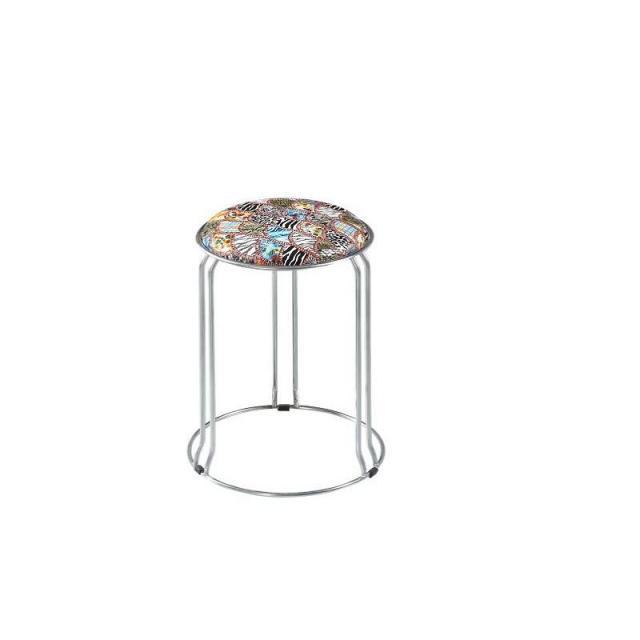 餐桌家用不锈钢圆凳子可堆叠简约时尚创意小板凳加厚成人凳