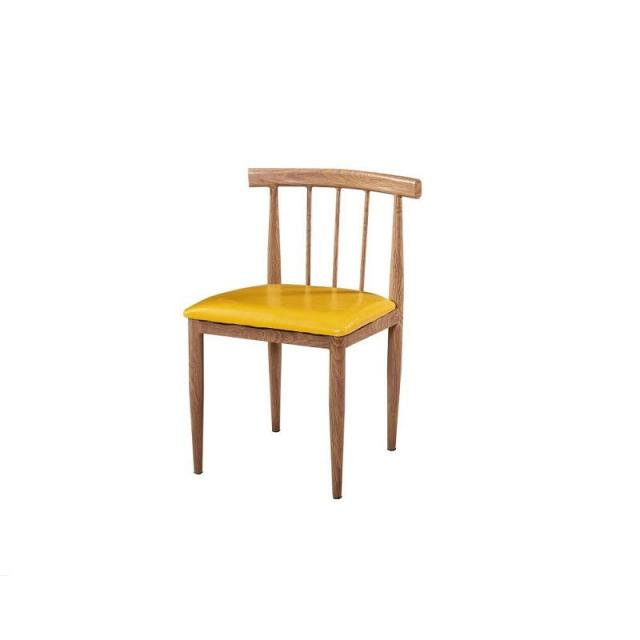 现代简约仿实木铁艺布艺餐厅靠背椅子成人家用书桌椅凳子北欧餐椅