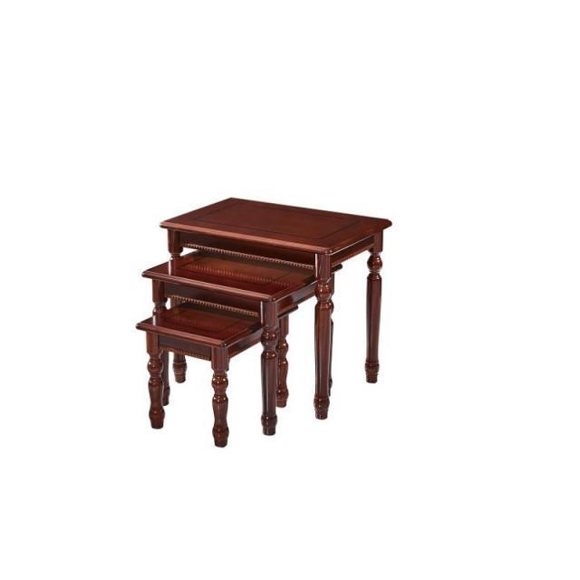 中式简约盆景桌多层花架超承重实木鱼缸底座奇石架茶几长方形三连套茶桌