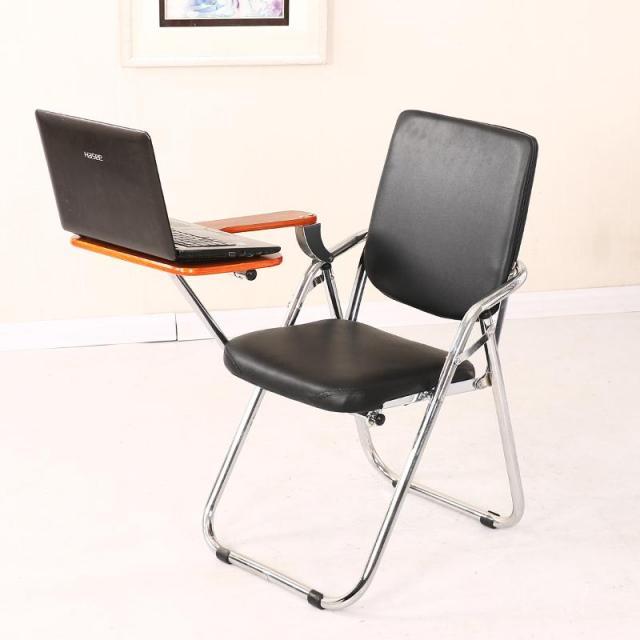 折叠带写字板培训椅会议椅新闻椅办公椅电脑椅洽谈椅学生椅子