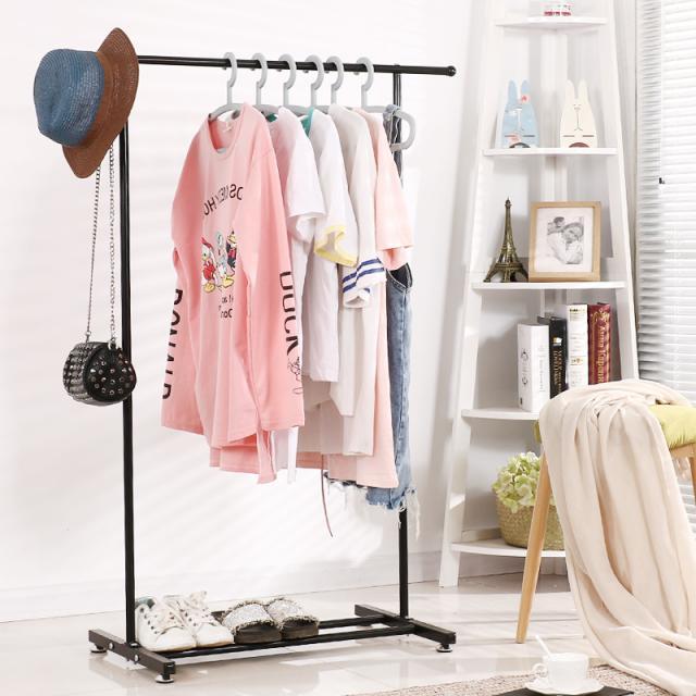 落地衣帽架简约现代可组装省空间北欧风格晾衣架铁艺卧室收纳架