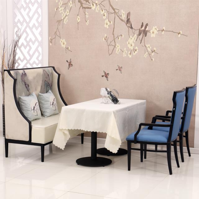 新中式酒店沙发桌椅客厅沙发组合简约现代样板间会所酒店家具定制