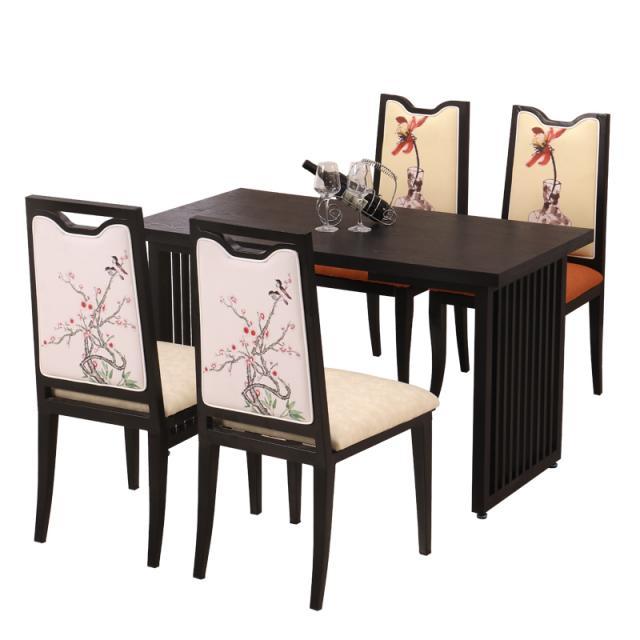 新中式酒店桌椅铁质艺简约古典风餐桌椅饭店包厢酒店桌椅定制logo