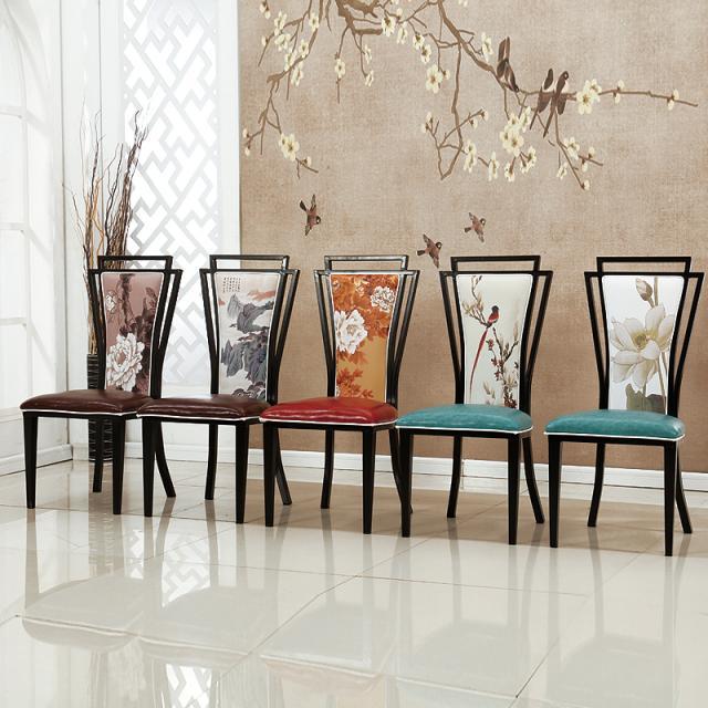 新中式铁质桌椅简约古典风家用酒店咖啡厅奶茶店餐厅包厢桌椅
